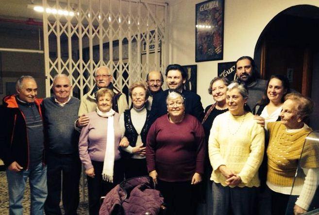 Miranda, onte, na xuntanza que mantivo cos socios e socias do Centro Galego da capital balear, que conta con máis de trescentas persoas asociadas