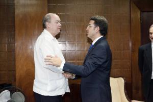 Feijoo na xuntanza co ministro de Comercio Exterior e do Investimento Estranxeiro da República de Cuba , Rodrigo Malmierca Díaz