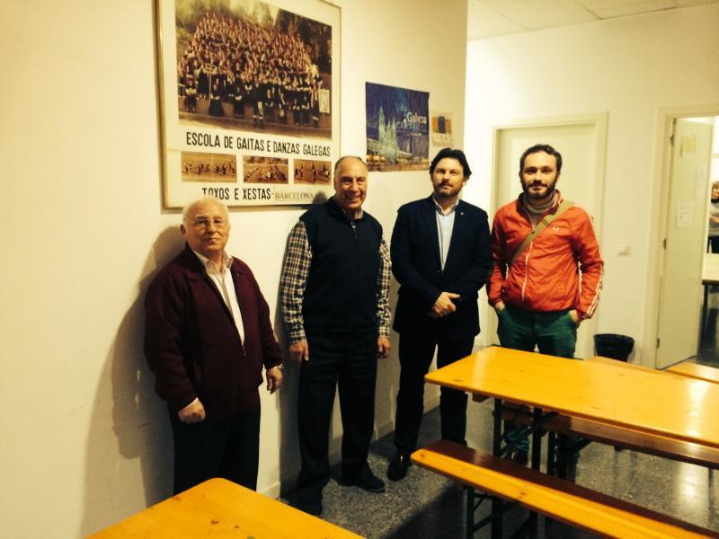 secretario xeral da Emigración también cursó visita a la Escola de Gaitas e Danzas 'Toxos e Xestas' de Barcelona