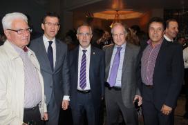 O presidente do Goberno galego xunto a un grupo de empresarios galegos en México