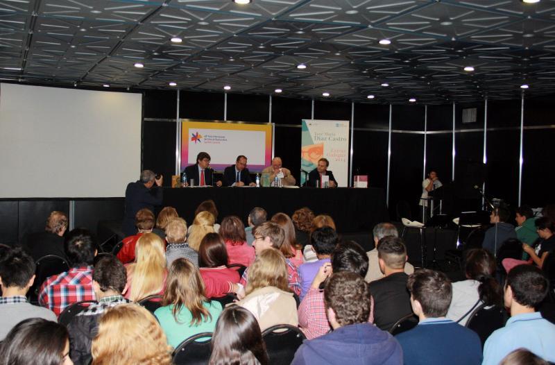 O secretario xeral de Cultura no acto literario-musical organizado pola consellería no marco da XL Feira Internacional do Libro de Bos Aires