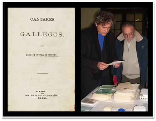 Na imaxe, Manuel Rivas e Francisco Lores