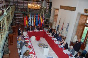 A xuntanza da Comsión Delegada do CCG estase a desenvolver na Biblioteca América da Universidade de Santiago de Compostela (USC)