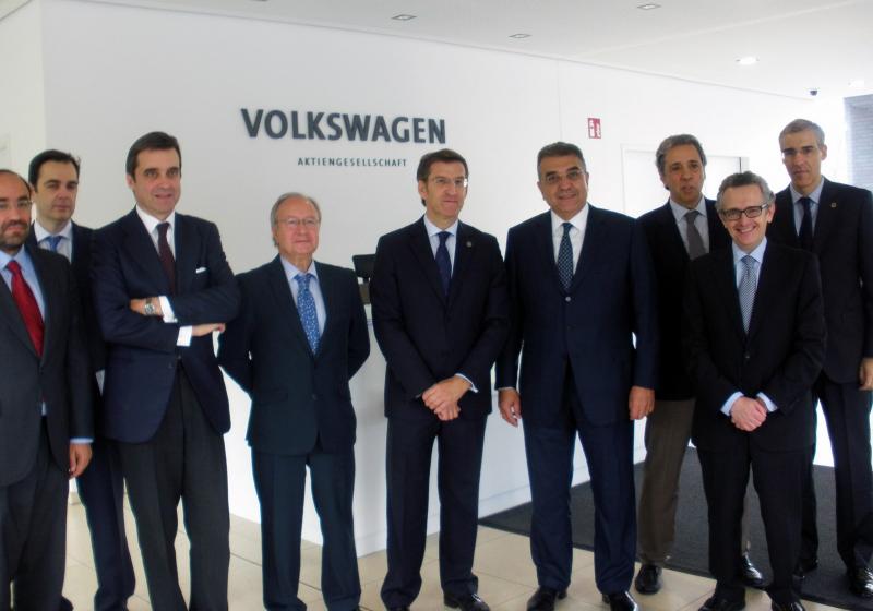 O presidente da Xunta de Galicia na súa visita á fábrica de Volkswagen
