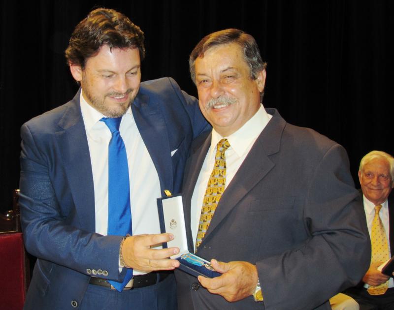 El secretario xeral da Emigración, durante el acto de entrega de medallas en la Hermandad Gallega de Venezuela en Caracas