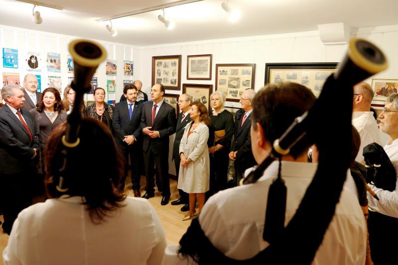 Na imaxe, con gravata azul, o Presidente Diego; á súa dereita, Rodríguez Miranda; e á esquerda, José Antonio Otero Hermida