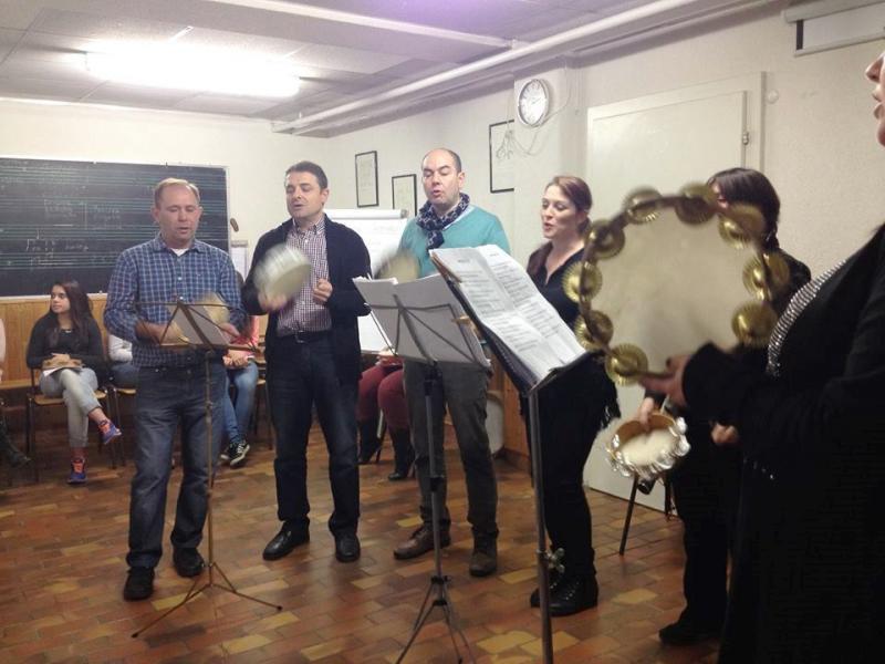 Clausura do obradoiro de pandeireta e canto celebrado na Sociedade Galega Sementeira de Basilea