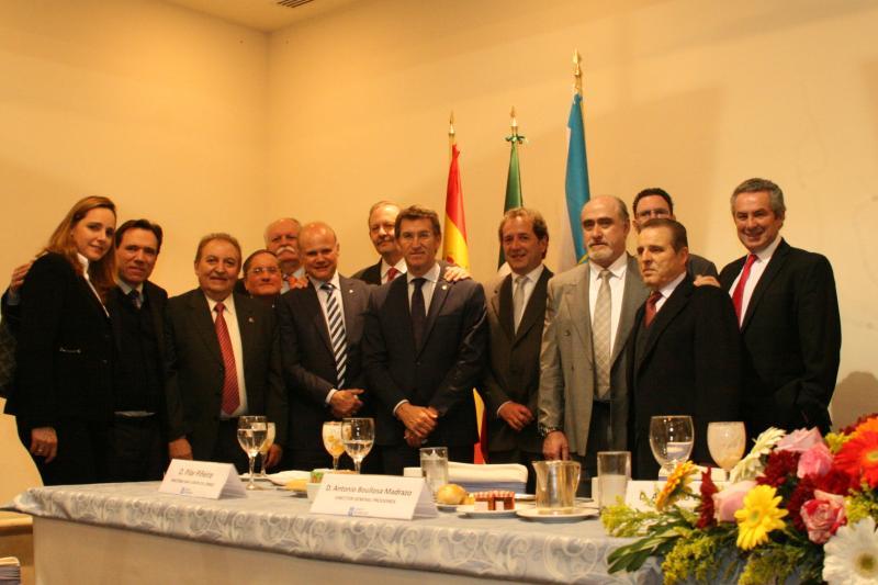 O presidente durante o encontro empresarial 'Galicia-México. Oportunidades de Negocio'