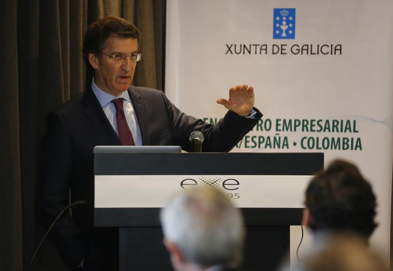 Feijóo participó en un encuentro empresarial en Bogotá