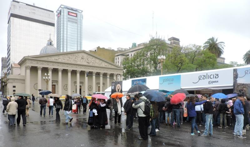 En la imagen de archivo, el área expositiva instalada en Buenos Aires el pasado año