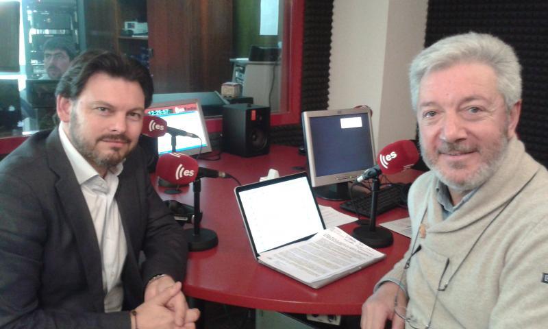 Antonio Rodríguez Miranda e Ignacio Balboa, director do espazo radiofónico