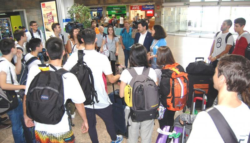 Imaxe da chegada ao aeroporto coruñés de Alvedro