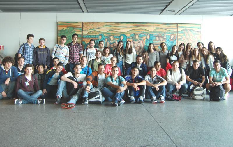 Imaxe da chegada ao aeroporto compostelán de Lavacolla