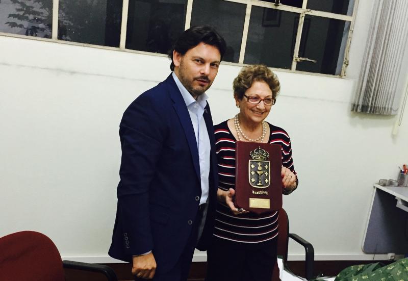 Imaxe do encontro que tivo lugar na Sociedade Hispano Brasileira de Socorros Mútuos e Instruҫão de São Paulo