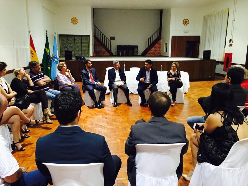 Imagen del encuentro que tuvo lugar en la Sociedade Hispano Brasileira de Socorros Mútuos e Instruҫão de São Paulo