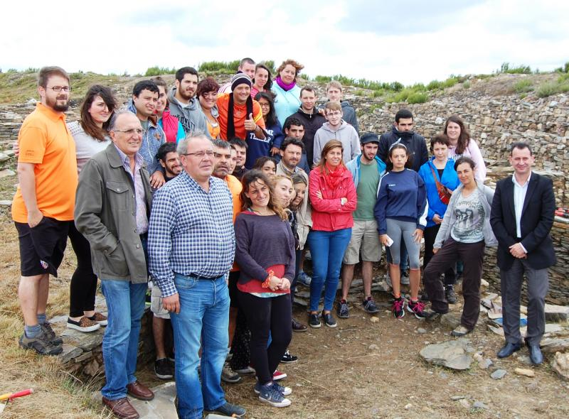 Imagen de esta mañana en el campo de trabajo del castro de Castromaior (Portomarín - Lugo)