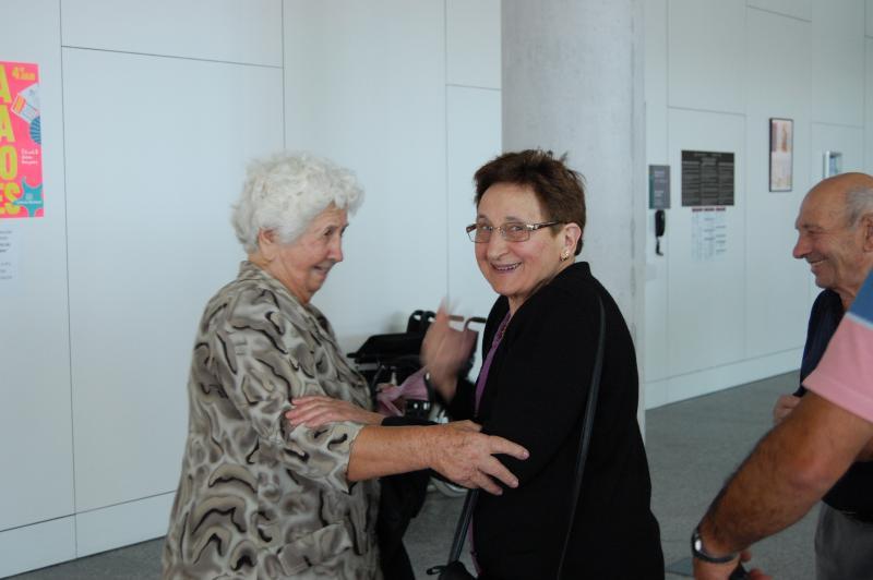 Foto de archivo de la llegada a Galicia de las y los participantes en la edición de 2015 de 'Reencontros na Casa'