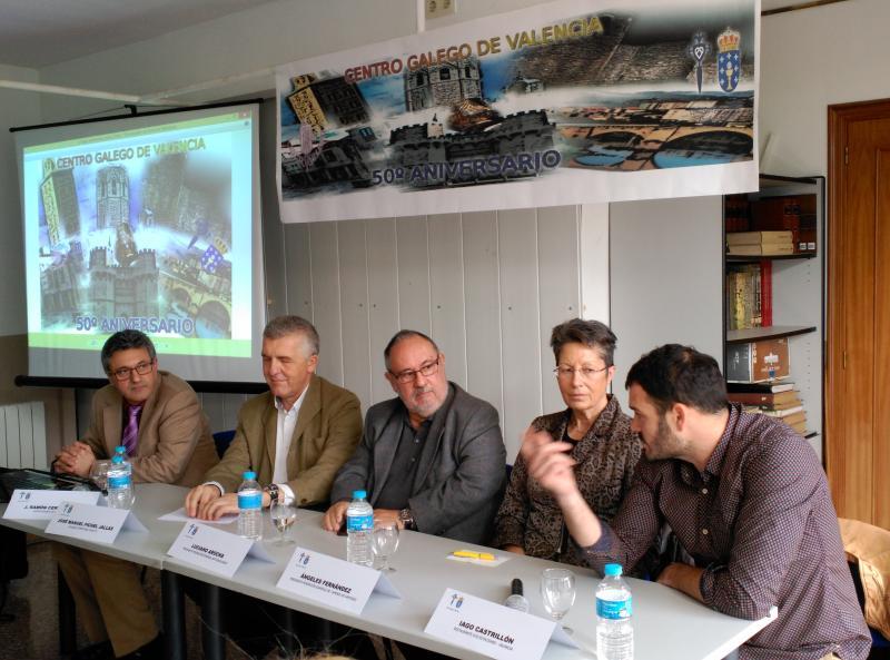 La Asamblea General Anual, una mesa redonda sobre la diáspora gallega y nuestra música y gastronomía tradicionales centraron este día de celebración de la entidad gallega en la capital valenciana