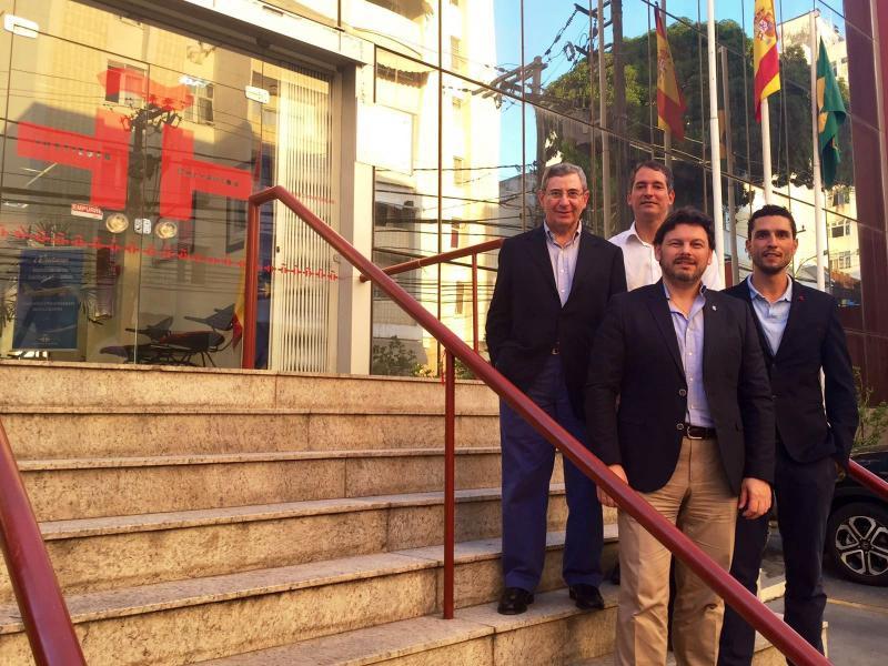 Imaxe do encontro co director do Instituto Cervantes na cidade, Alberto Gascón