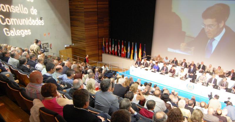 Imaxe do X Pleno do Consello de Comunidades Galegas