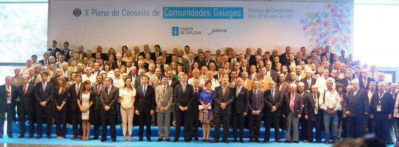 Imaxe do X Plenario do Consello de Comunidades Galegas, celebrado en Santiago de Compostela os días 28 e 29 de xuño de 2012
