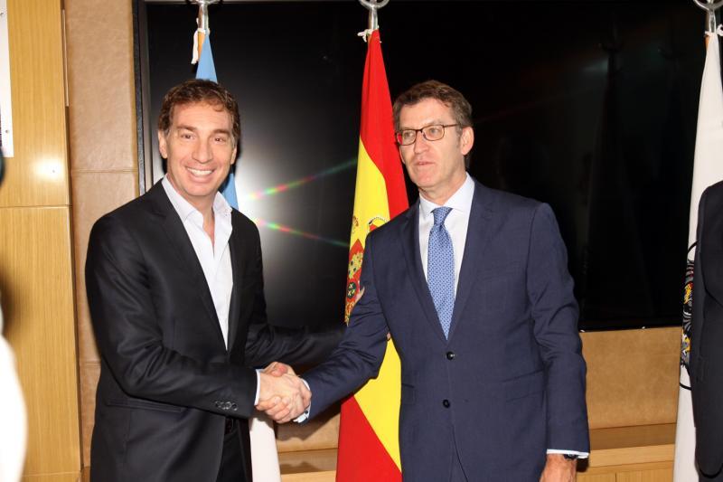 El titular de la Xunta se reunió esta tarde con el vicejefe del Gobierno de la Ciudad Autónoma de Buenos Aires, Diego Santilli