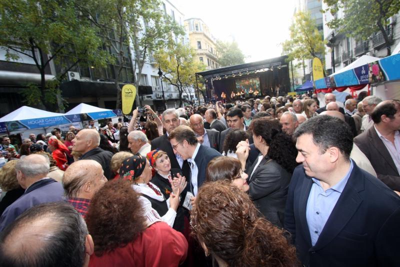 O titular da Xunta, na festividade de 'Bos Aires Celebra Galicia'