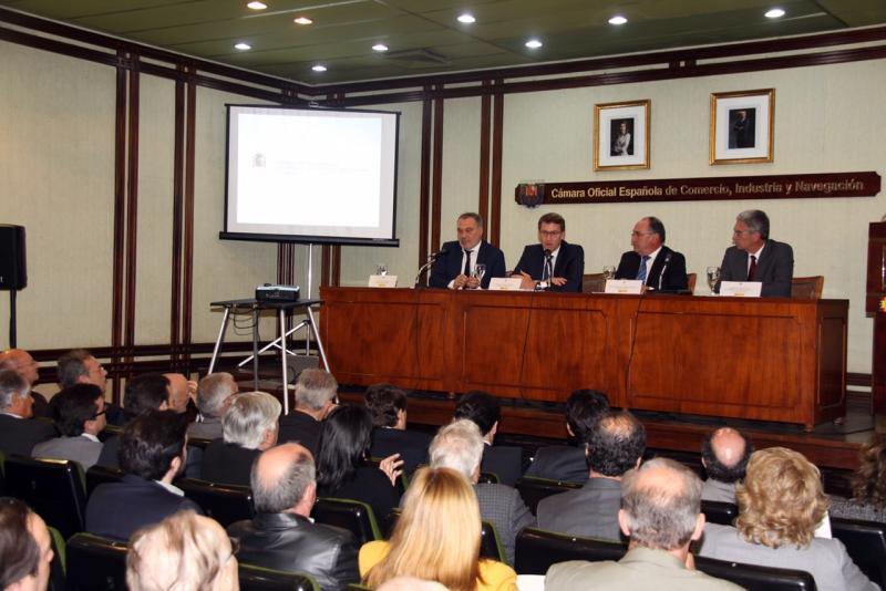 O titular da Xunta participou hoxe nun encontro empresarial na Cámara Oficial Española de Comercio de Uruguai