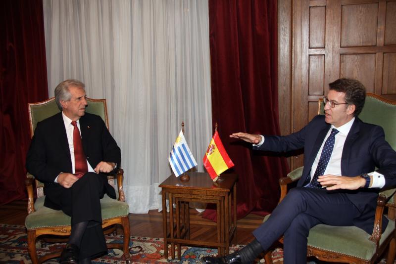 O titular da Xunta finalizou a súa viaxe institucional a Arxentina e Uruguai, cunha reunión co presidente da República Oriental do Uruguai.