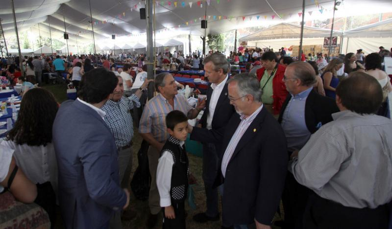 Alfonso Rueda e Antonio Rodríguez Miranda participaron hoxe na 'Jira campestre' coa comunidade galega en México