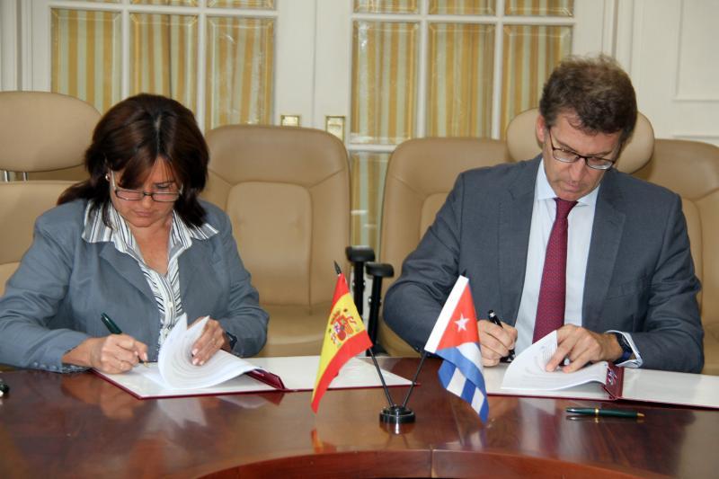 Sinatura do Memorando de entendemento entre o Ministerio de Cultura da República de Cuba e a Xunta