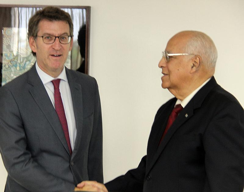 Alberto Núñez Feijóo se reunió con el vicepresidente del Consejo de Ministros de Cuba, Ricardo Cabrisas