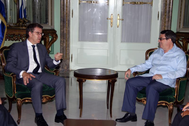 O presidente da Xunta mantivo tamén un encontro co ministro de Relacións Exteriores (MINREX), Bruno Eduardo Rodríguez Parrilla