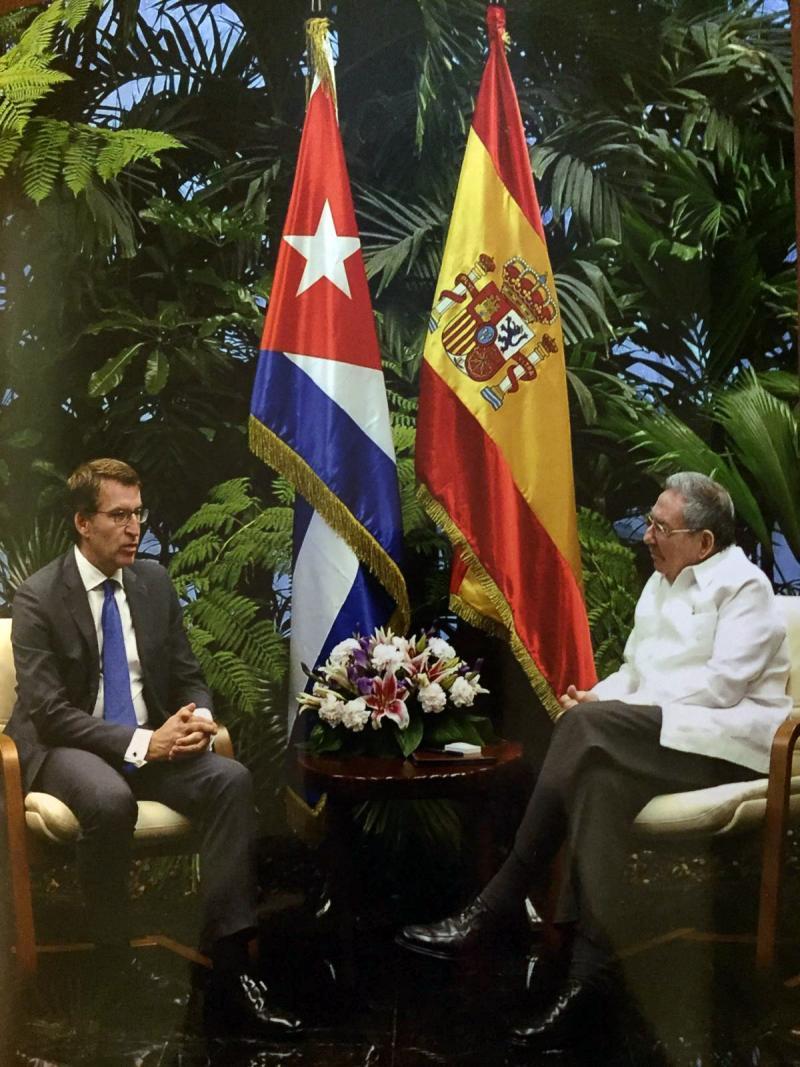 El titular de la Xunta se reúne por segunda vez con el presidente de la República de Cuba