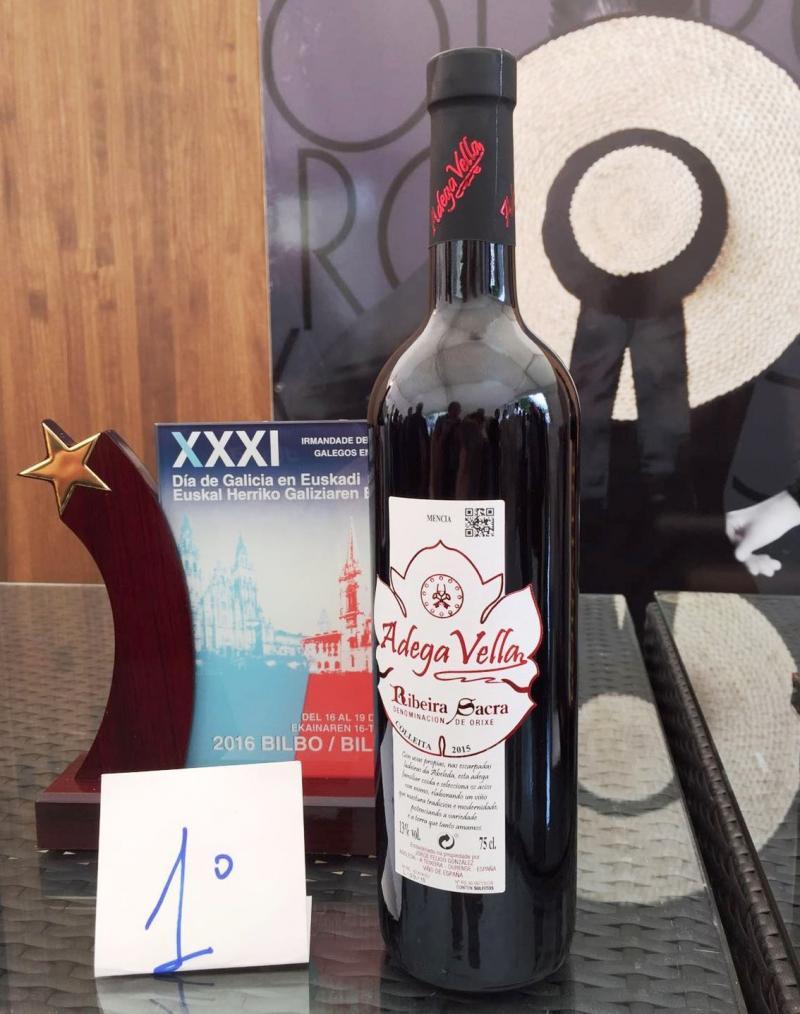 Botella correspondente ao primeiro premio