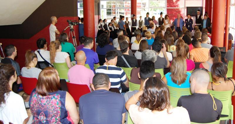 Antonio Rodríguez Miranda, Marisol Díaz Mouteira e Antonio González Amaro inauguraron esta mañá no I.E.S. Universidade Laboral de Ourense as 'Escolas Abertas 2016'