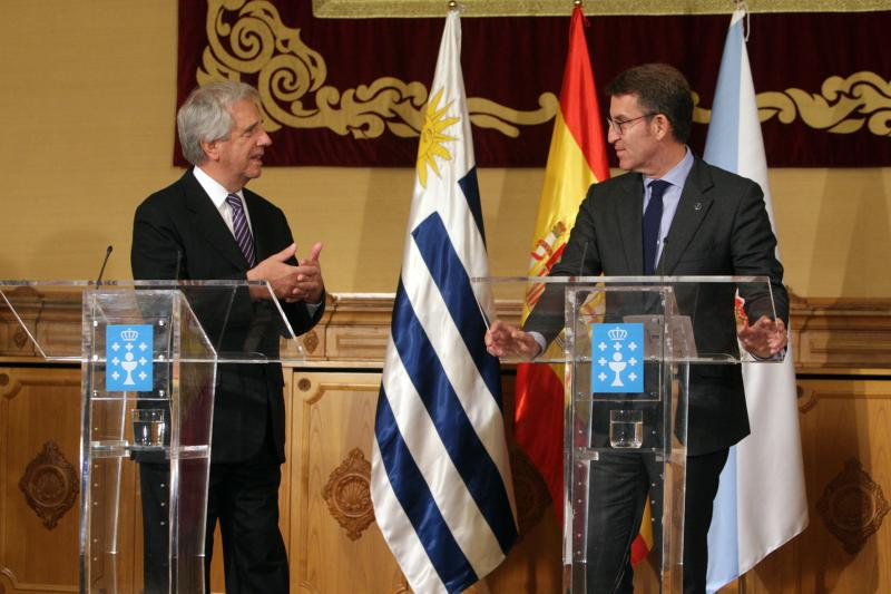 O titular da Xunta recibiu esta tarde ao presidente da República Oriental do Uruguai, Tabaré Vázquez, e aos seus ministros con motivo da súa visita institucional á Comunidade