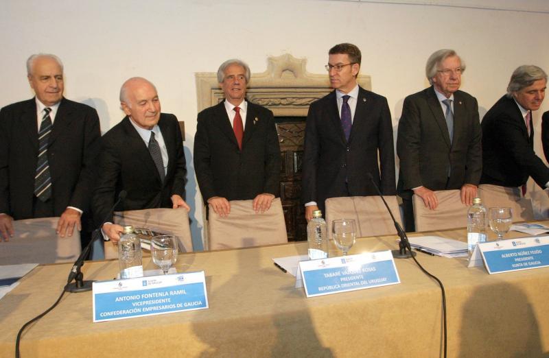 O titular da Xunta participou, xunto ao presidente Tabaré Vázquez, na sesión inaugural do encontro empresarial 'Uruguay: Oportunidades de inversión y negocios'