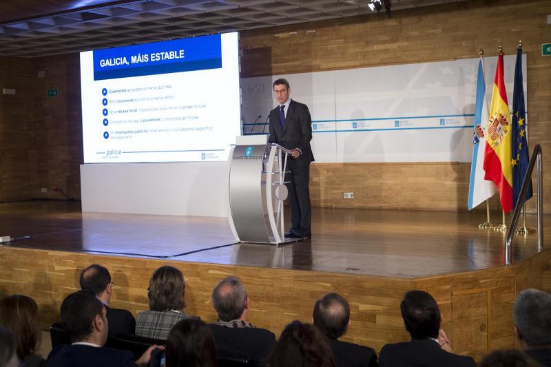 O presidente da Xunta abriu esta mañá o encontro de traballo con motivo dos 100 días do actual Goberno galego