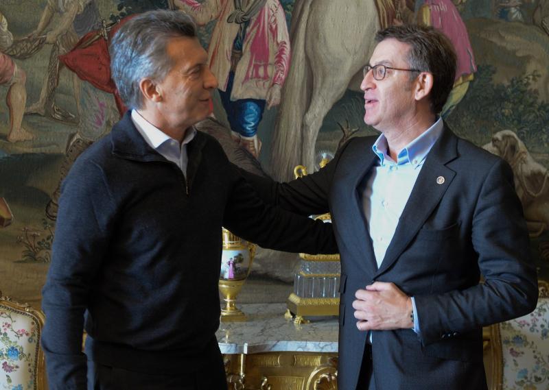 O presidente da Xunta mantivo hoxe en Madrid unha audiencia co presidente de Arxentina, que estes días realiza a súa primeira visita de Estado a España