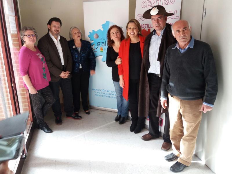 O secretario xeral da Emigración tamén visitou a Casa de Galicia de Alcorcón, que festexaba o Entroido
