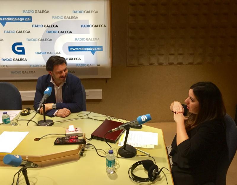 Miranda e García, durante a entrevista