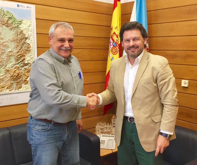 Miranda reafirma ante o presidente da FEVEGA o firme compromiso da Xunta cos galegos en Venezuela e retornados