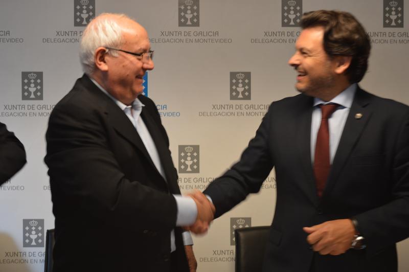 Na imaxe, Manuel Ramos (á esquerda) e Antonio Rodríguez Miranda