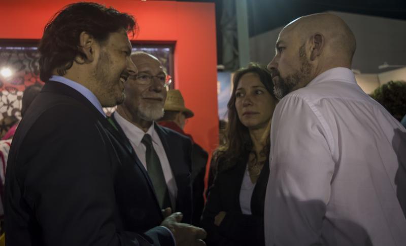 Miranda visitou asimesmo a Feira de Colectividades que se celebra en Bos Aires