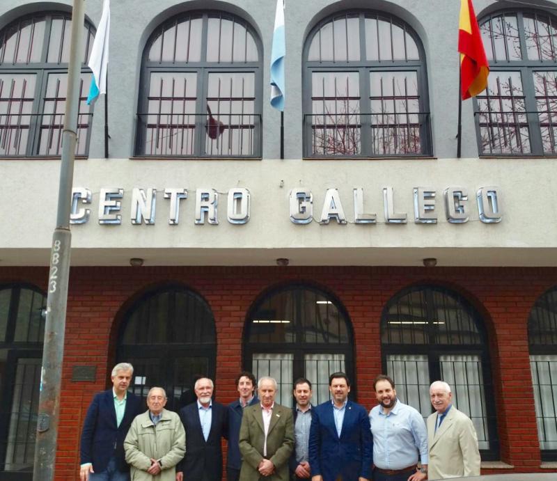 O secretario xeral da Emigración estivo presente na celebración do 68º aniversario do Centro Gallego de La Plata