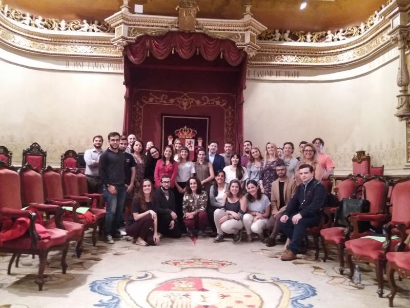 La jornada se desarrolló en el Paraninfo de la Universidad de Santiago (en la Facultad de Geografía y Historia)