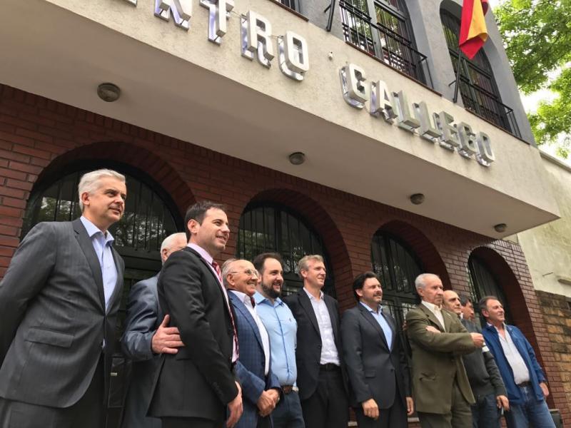 Rueda y Miranda visitaron el Centro Gallego de La Plata, donde comprobaron la labor fundamental que desarrolla esta organización