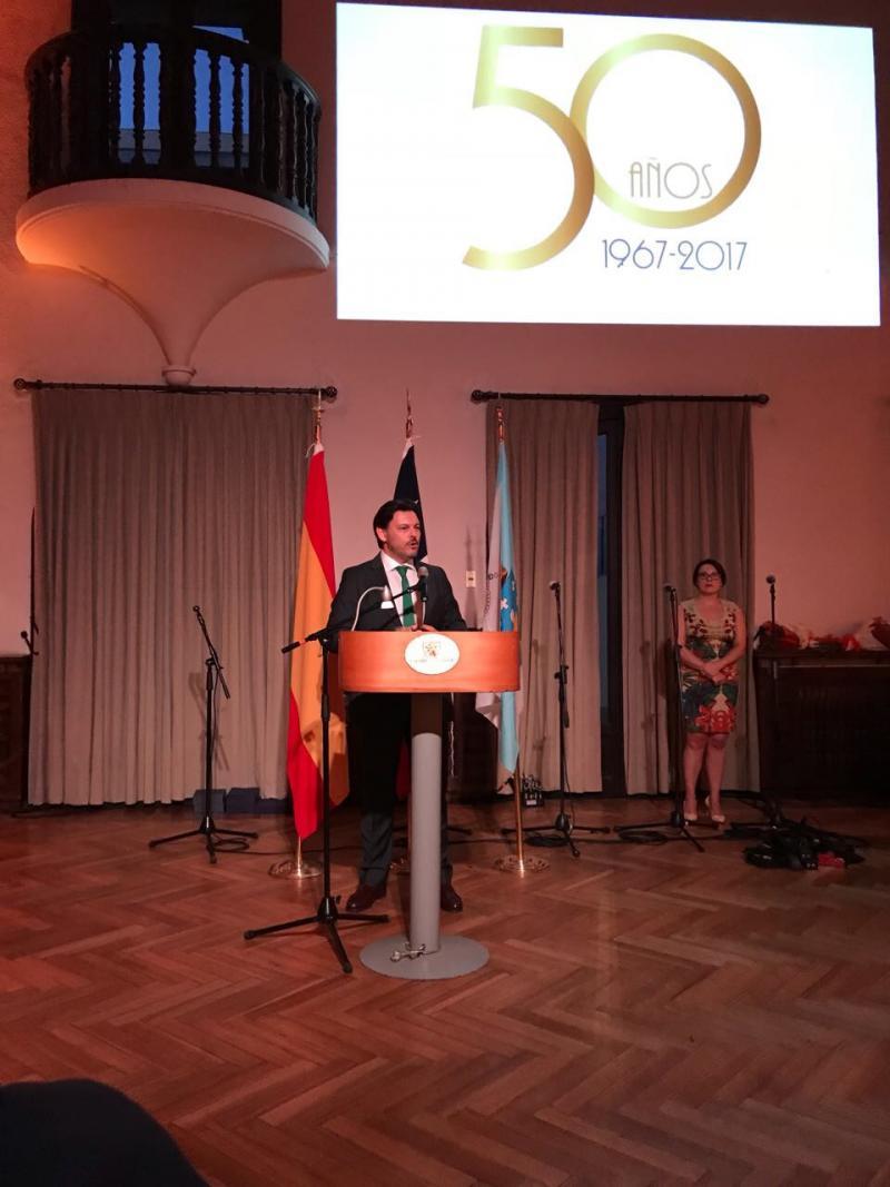 O secretario xeral da Emigración asistiu á celebración do 50º aniversario do Lar Gallego de Chile