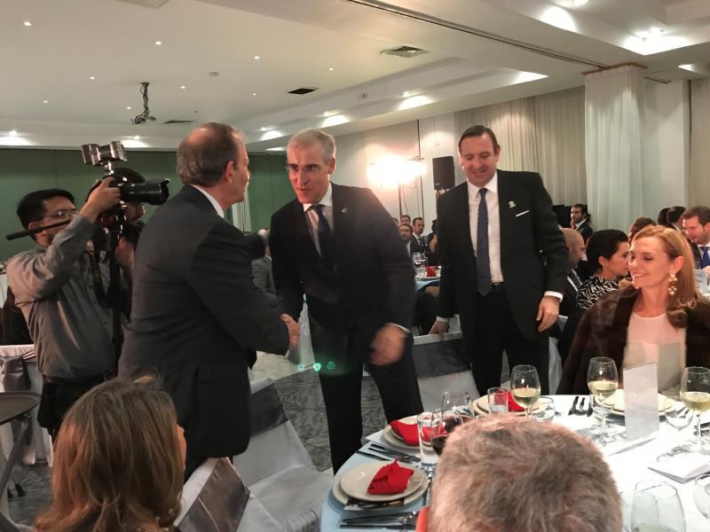 Francisco Conde asistiu tamén á celebración do Xº aniversario da Unión Mexicana de Empresarios Galegos